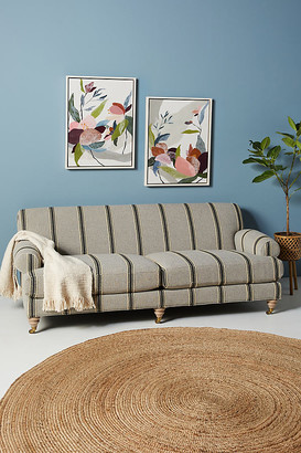 Anthropologie Woven Willoughby Sofa By in Blue Size 89 in