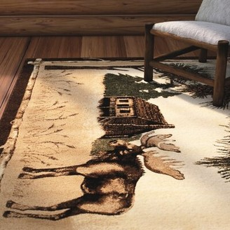 """Ultrasoft Loon Peak Lacour High Quality Woven Ultra-Soft Traditional Southwest Wilderness Moose Theme Berber Area Rug Loon Peak Rug Size: 3' 9"""" X 5' 1"""""""