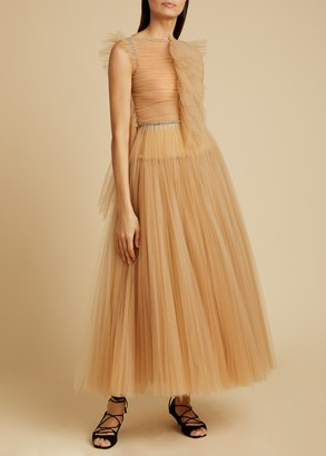 KHAITE The Paige Dress in Nude
