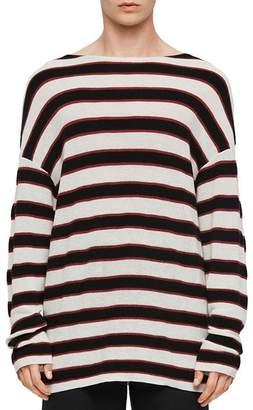 AllSaints Terren Striped Boatneck Sweater