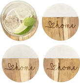 Cathy's Concepts Cathys Concepts Love Home Marble & Acacia Wood Coasters
