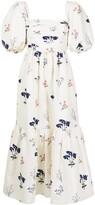 Thumbnail for your product : Self-Portrait Floral-Print Mid-Lengt Dress