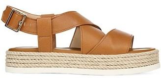 Via Spiga Grayce Rope & Leather Flatform Slingback Sandals