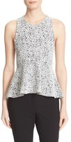 Theory Women's Colisha Sleeveless Jacquard Peplum Top