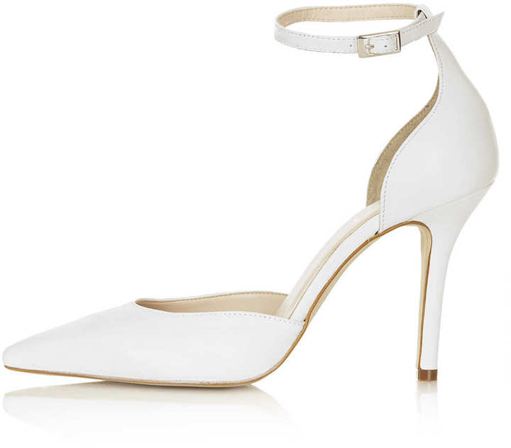 Topshop GIZMO Ankle Strap Court Shoes