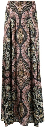 Etro Baroque-Print Full Skirt