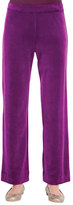 Joan Vass Solid Velour Pants, Plus Size