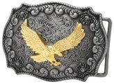 Belt Buckles CBPEP284 Buckle Rage Antique Silver Decorative Golden Eagle Belt Buckle Snap On