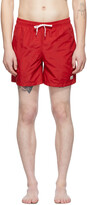 Thumbnail for your product : Bather Red Solid Swim Shorts