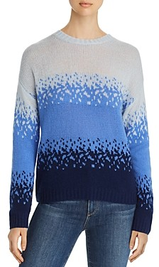 C by Bloomingdale's Ombre Jacquard Cashmere Sweater - 100% Exclusive