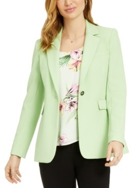 Bar III One-Button Notch-Collar Jacket, Created for Macy's
