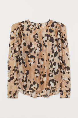 H&M Puff-sleeved blouse
