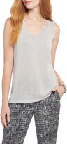 Nic+Zoe Primrose Metallic Sleeveless Linen Blend Sweater
