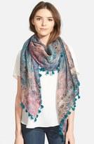 La Fiorentina Women's Floral Print Silk & Cotton Scarf