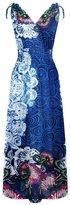 2LUV Women'sPlus Size Shoulder Ties Floral Summer Holiday Resort Maxi Dress 3XL (3239-3XL)
