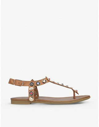 Carvela Kankan leather sandals, Women's, Size: EUR 37 / 4 UK WOMEN, Tan