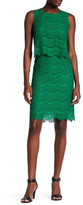 Anne Klein Sleeveless Lace Popover Dress
