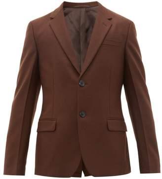 Prada Single-breasted Virgin Wool Blazer - Mens - Brown