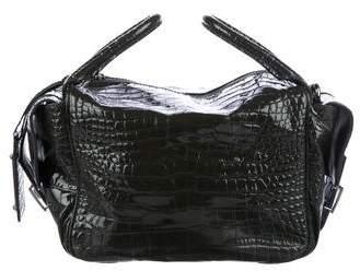 Dolce & Gabbana Embossed Leather Satchel