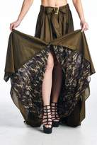 MHGS Olive Maxi Skirt