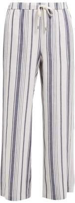 Max Mara Billy Trousers - Womens - Navy White