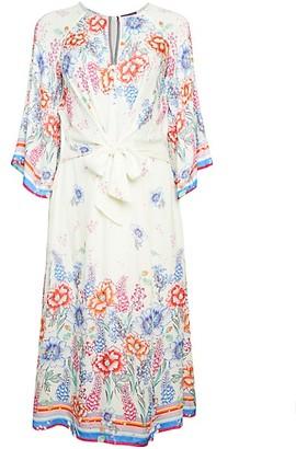 Hale Bob Tie-Front Floral Dress