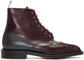 Thom Browne Burgundy Classic Wingtip Boots