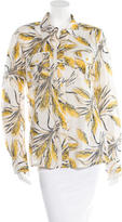 Tory Burch Printed Button-Up Top