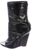 Givenchy Leather Wedge Ankle-Boots