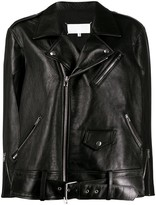 Maison Margiela oversized leather biker jacket