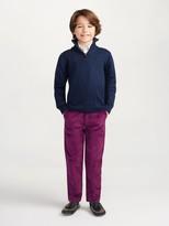Oscar de la Renta Wool-Cashmere Half-Zip Sweater