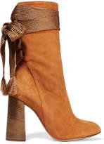 Chloé Harper Suede Ankle Boots - Tan