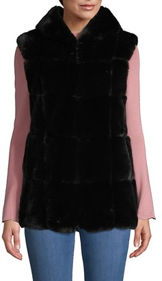 Belle Fare Hooded Faux Fur Vest