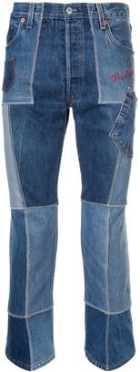 TAKAHIROMIYASHITA TheSoloist. Cropped Patch Jeans
