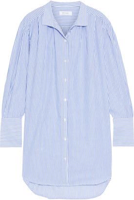 Frame Striped Cotton-gauze Mini Shirt Dress