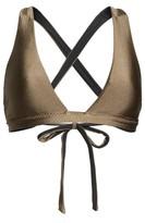Becca Women's Reversible Shimmer Plunge Bikini Top