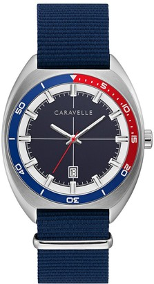 Caravelle by Bulova Men's Blue Nylon Strap Watch