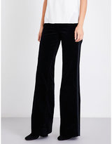 J Brand Ladies Black Flared Modern Isabella High-Rise Velvet Jeans