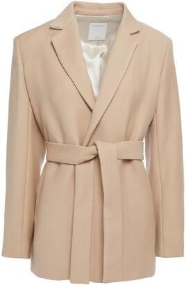 Sandro Belted Wool-blend Twill Blazer