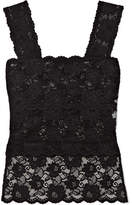 MM6 MAISON MARGIELA Scalloped Stretch-lace Top - Black