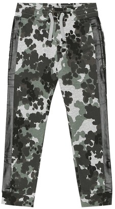 Stella McCartney Kids Camo cotton-jersey trackpants