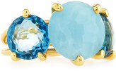 Ippolita 18k Rock Candy Gelato 3-Stone Ring in Chambray