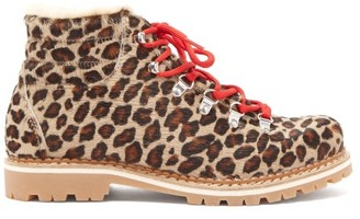 Montelliana Marlena Leopard-print Calf-hair Apres-ski Boots - Womens - Leopard