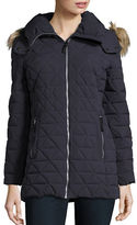 Andrew Marc Plus Tobi Stretch Pyramid Puffer Jacket
