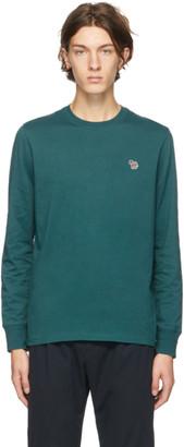 Paul Smith Green Organic Zebra Logo Long Sleeve T-Shirt