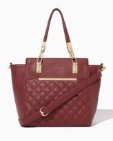 Charming charlie Karalyn Quilted Satchel