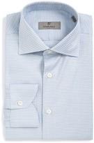 Canali Men's Regular Fit Diamond Dress Shirt