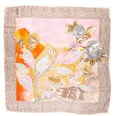 Christian Lacroix Metallic Silk Scarf