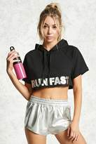 Forever 21 FOREVER 21+ Active Run Fast Cropped Hoodie