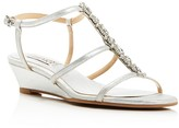 Badgley Mischka Carley II T Strap Low Wedge Sandals